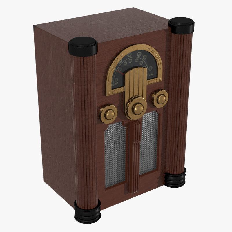 3d model old radio