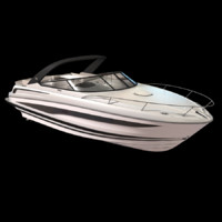 motorboat boat recreational 3d x