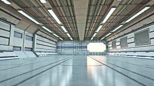 3ds max futuristic corridor