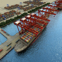 3dsmax container terminal 1