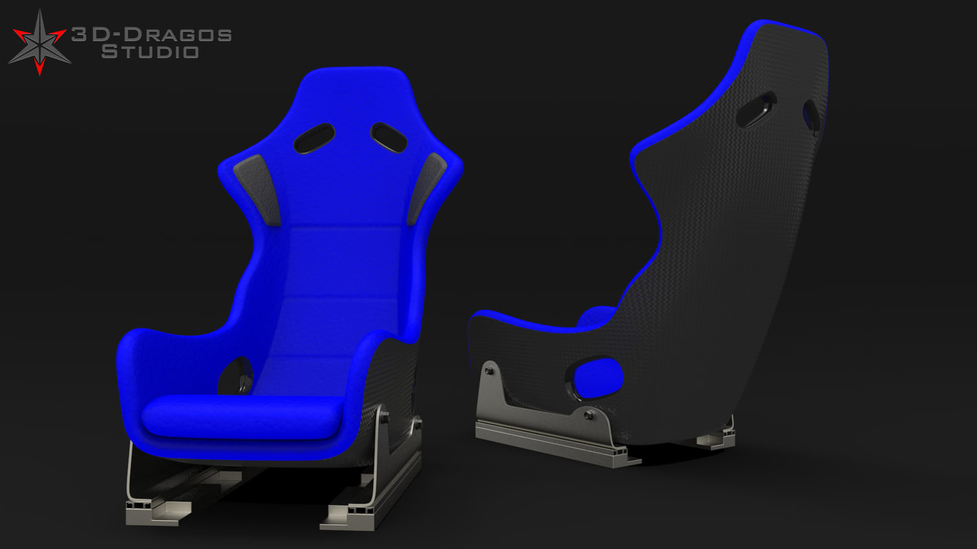 3d model car car-seat racing