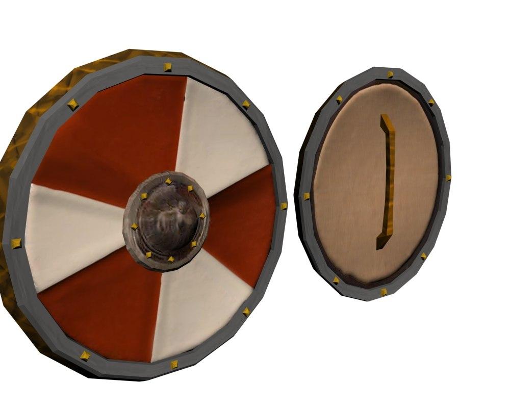 shield targe 3d model