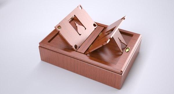 3d box book model
