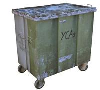 trash bin container obj