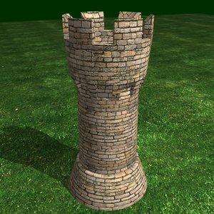 archer towers 3d model