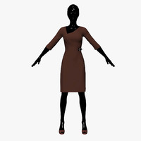 3d dress chocolate