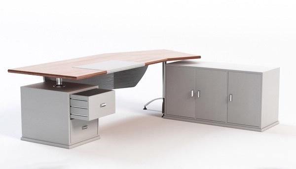 3d model of office desk workstation