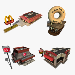 3d pack fastfood restaurants