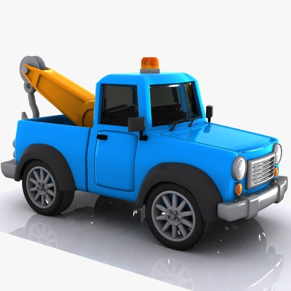 cartoon tow truck 3d max