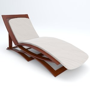 3d model deck chair