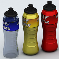 Sport bottle isotonic high detail poly