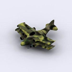 3d model jet biplane