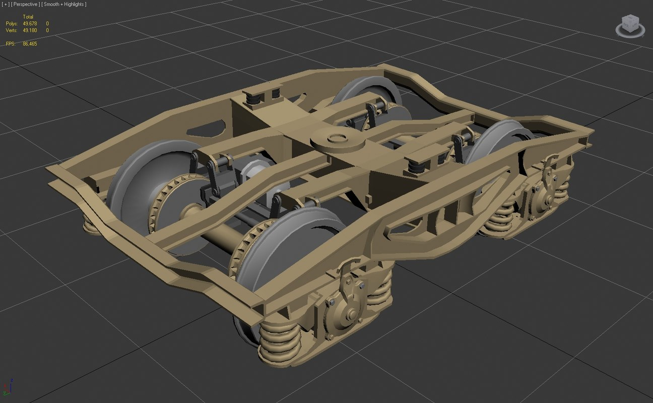 3d model bogie