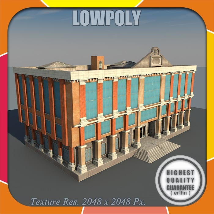 3ds max games tsq house buildings