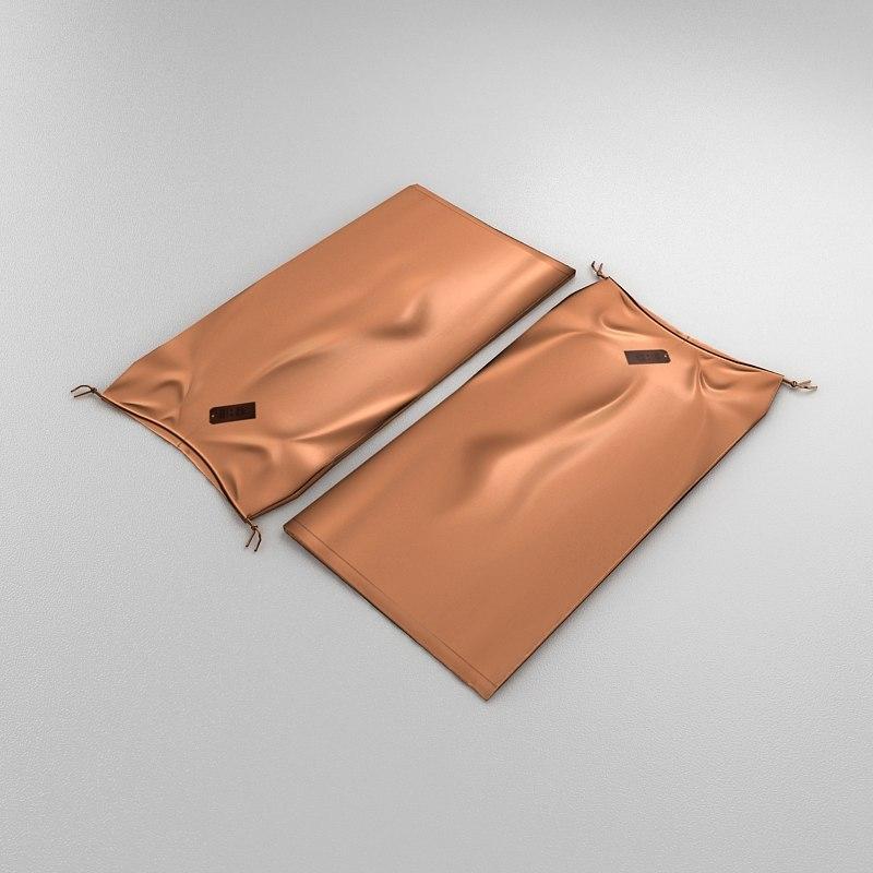 3d woman skirt folded model