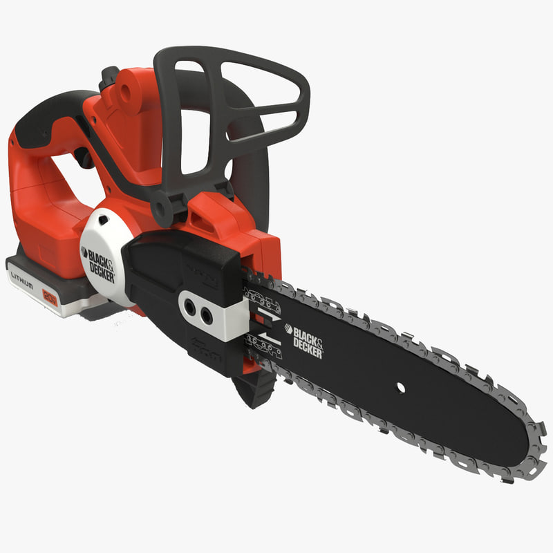 3ds max cordless chain saw black