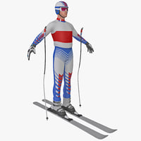 downhill skier 2 3d 3ds