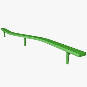 3d exterior balance beam model