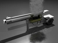 gun grill 3d obj