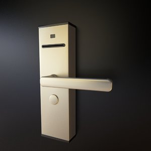 3d model electromagnetic door lock hotels