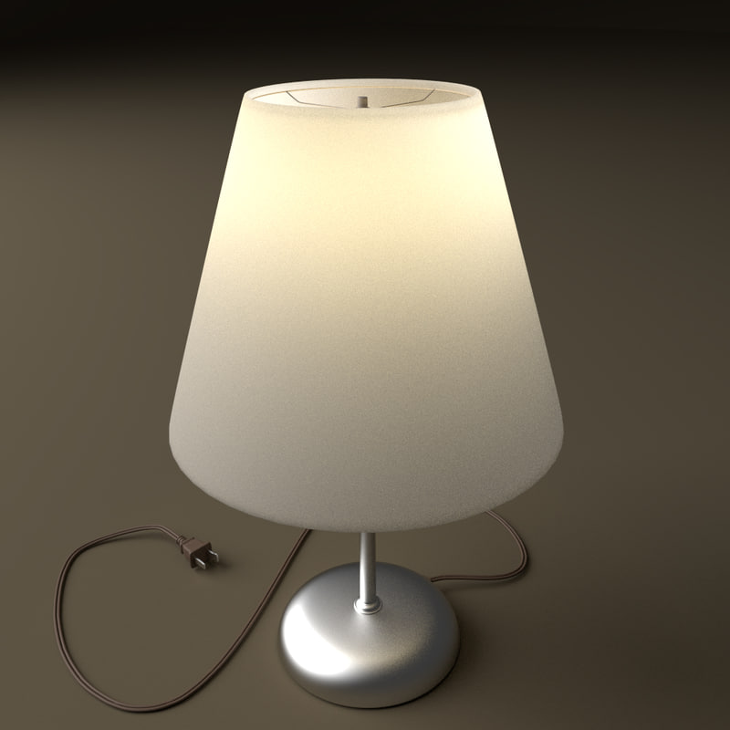 3d simple table lamp