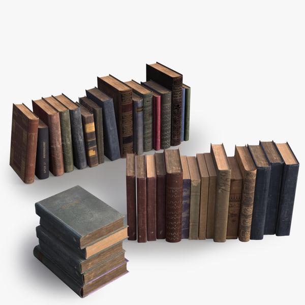 3d model 36 books