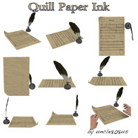 Quill, Paper, Ink