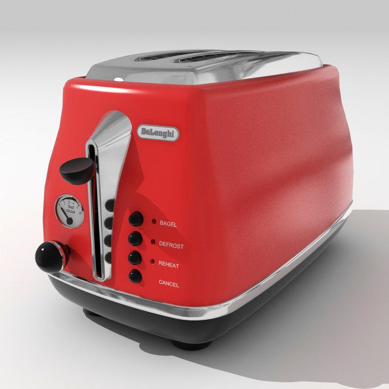 3d delonghi toaster model