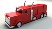 Rigged Toy Lorry