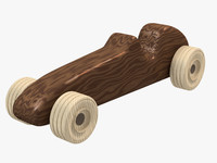 Wooden Race Car Toy #1