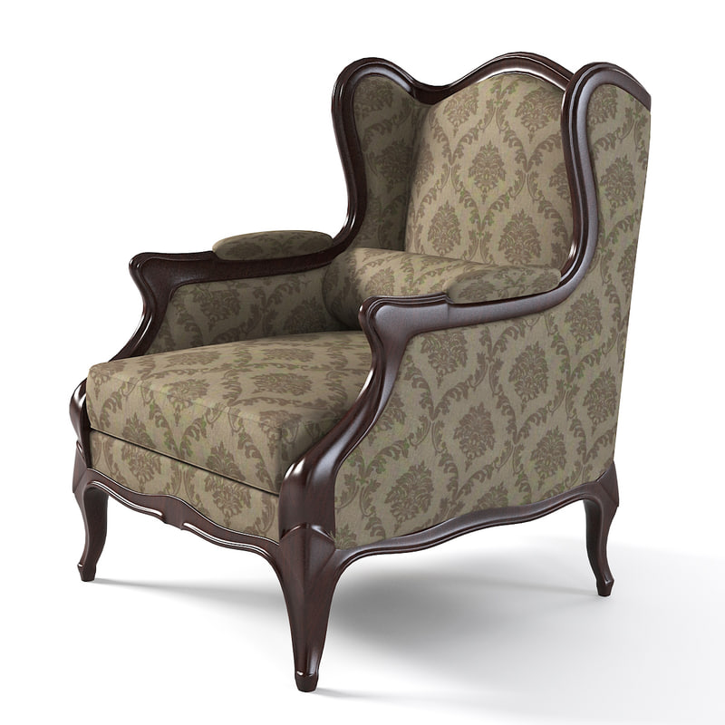3d wing chair elegant