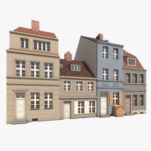houses berlin 3d model