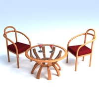 3ds max table chair set
