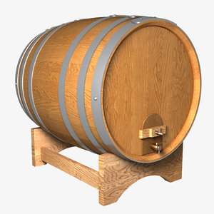 wine barrel 3d lwo