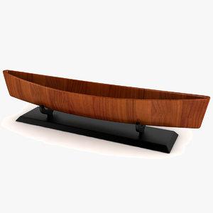 3d canoe decor