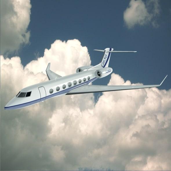 jet business gulfstream 3d model