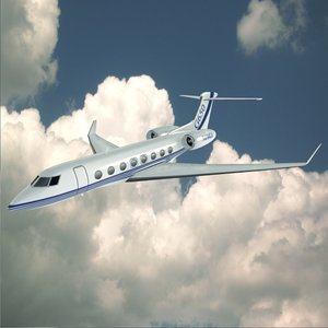jet business gulfstream 3d model