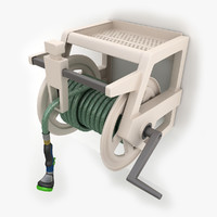3d hose wall mount 02 model