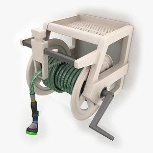 3d hose wall mount 02 model
