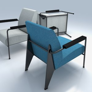 3d model fauteuil salon vitra arm chair