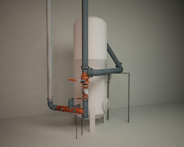 3d model of pressure vessels