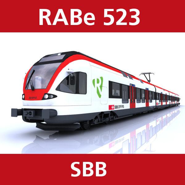 rabe 523 passenger train 3d model
