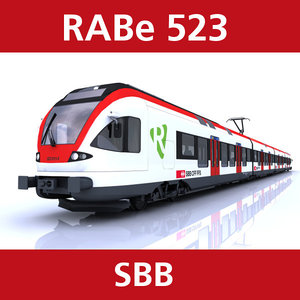 rabe 523 passenger train 3d model