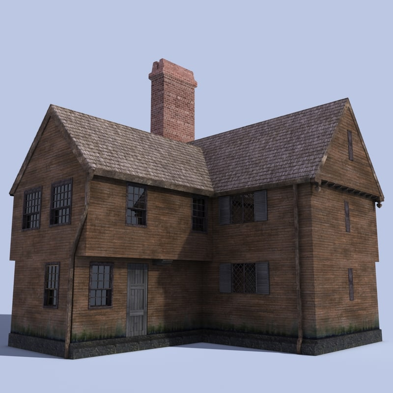 3d model paul revere house boston