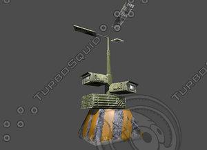 street light sci-fi 2 3d model