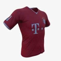 fc bayern t-shirt 3d obj
