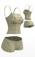 lingerie set cloth simulations max