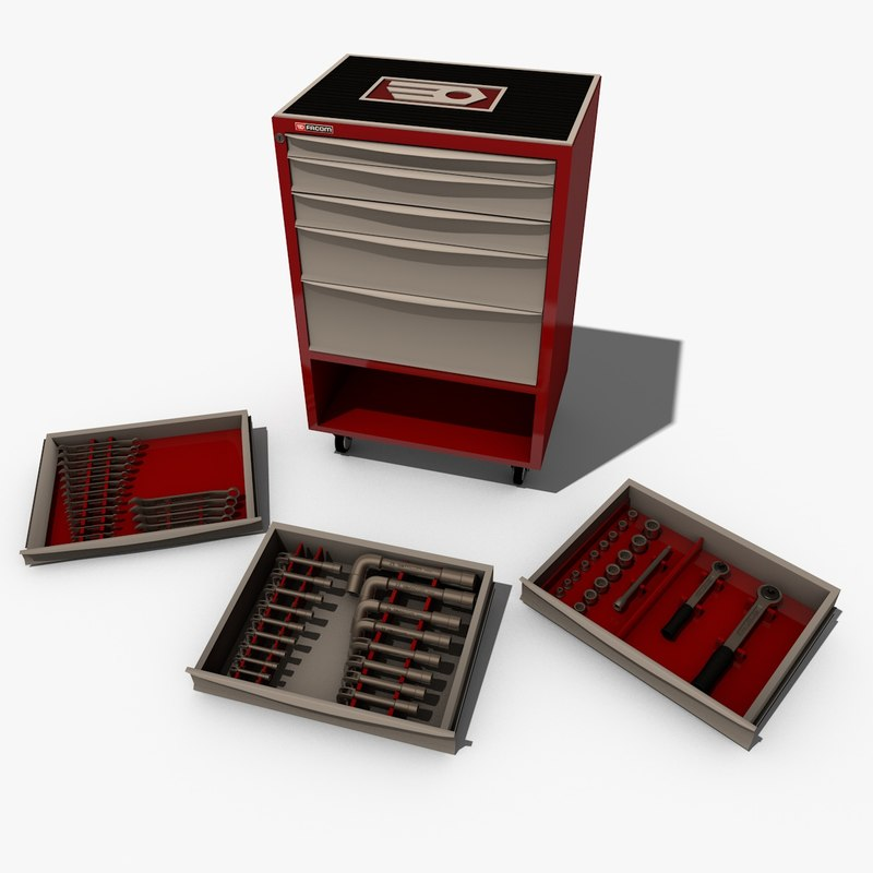 3d model servant facom tools