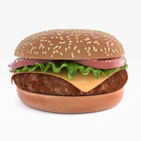 3d model hamburger patty displacement