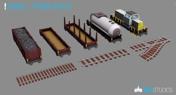 3d model small train pack